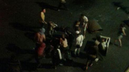 Imagen de los hechos ocurridos en la avenida Carabobo de San Cristóbal la noche del 10 de marzo/ Cortesía Diario La Nación de Táchira