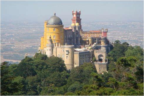 El Palacio de la Peña, Sintra, Portugal.