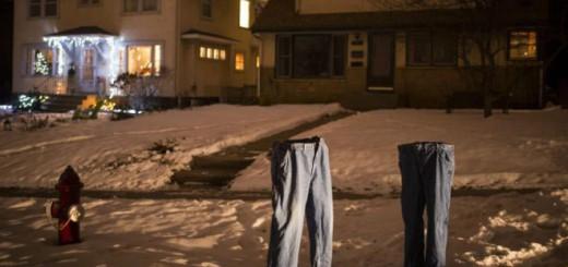 Congelar los jeans comenzó como una idea divertida y se convirtió en viral en Minnesota. Imagen: Aaron Lavinsky. Star Tribune