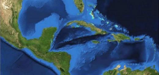 Las características del Mar Caribe hacen que sólo aquí se produzca ese zumbido. Imagen: NASA