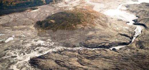 DAN SHUGAR/UNIVERSIDAD DE WASHINGTON TACOMA Image caption El Kaskawulsh es uno de los mayores glaciares del río Yukón en Canadá.